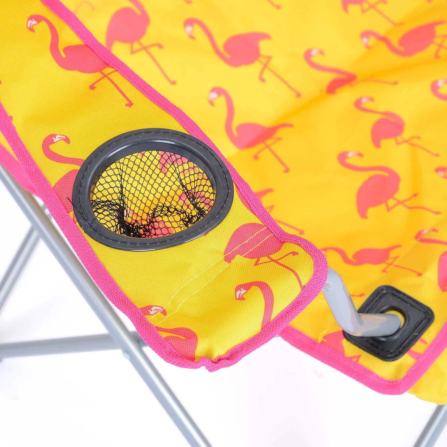 Folding-Camping-Chair-Lightweight-Beach-Festival-Outdoor-Travel-Seat-Flamingo thumbnail 14