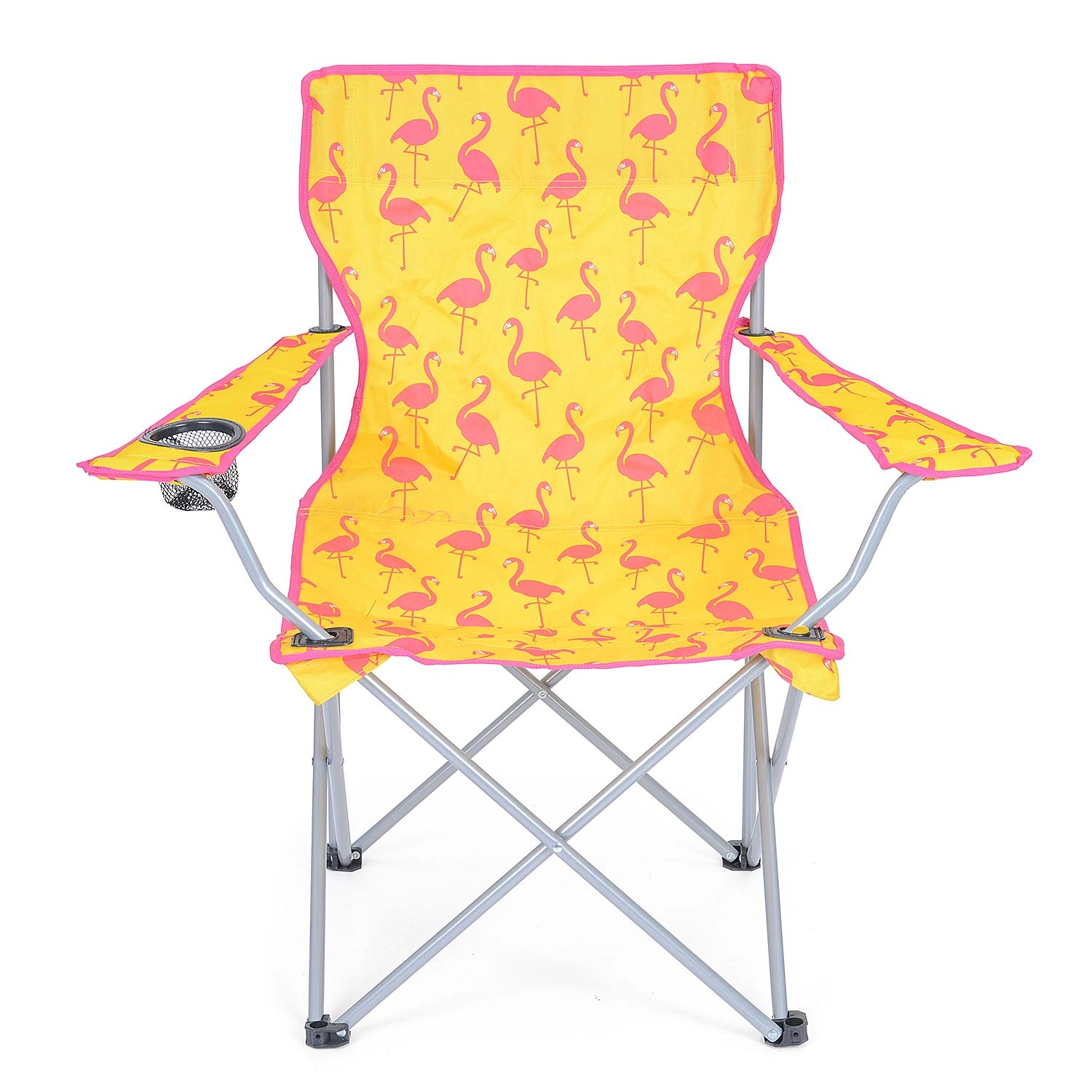 Folding-Camping-Chair-Lightweight-Beach-Festival-Outdoor-Travel-Seat-Flamingo thumbnail 12